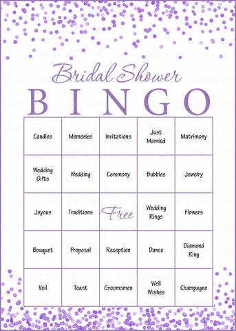 graphic about Bridal Bingo Printable called Bridal Bingo Playing cards - Printable Down load - Prefilled - Bridal Shower Activity for Marriage - Pink Confetti