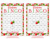 Christmas Bingo Cards - Printable Download - Prefilled - Christmas Party Games - Green and Red Ornaments