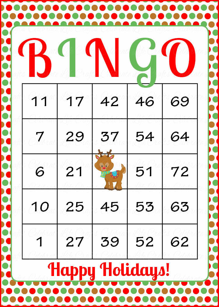 Christmas Bingo Game Download for Holiday Party Ideas ...