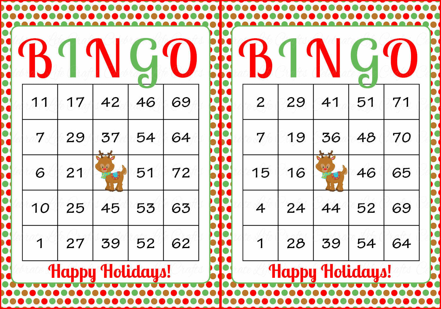 christmas bingo game download for holiday party ideas