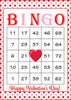 Valentine's Bingo Cards - Printable Download - Prefilled - Valentines Party Games - Pink Red Polka Dots - V1001
