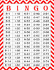 Valentine's Bingo Cards - Printable Download - Prefilled - Valentines Party Games - Red Chevrons - V1002