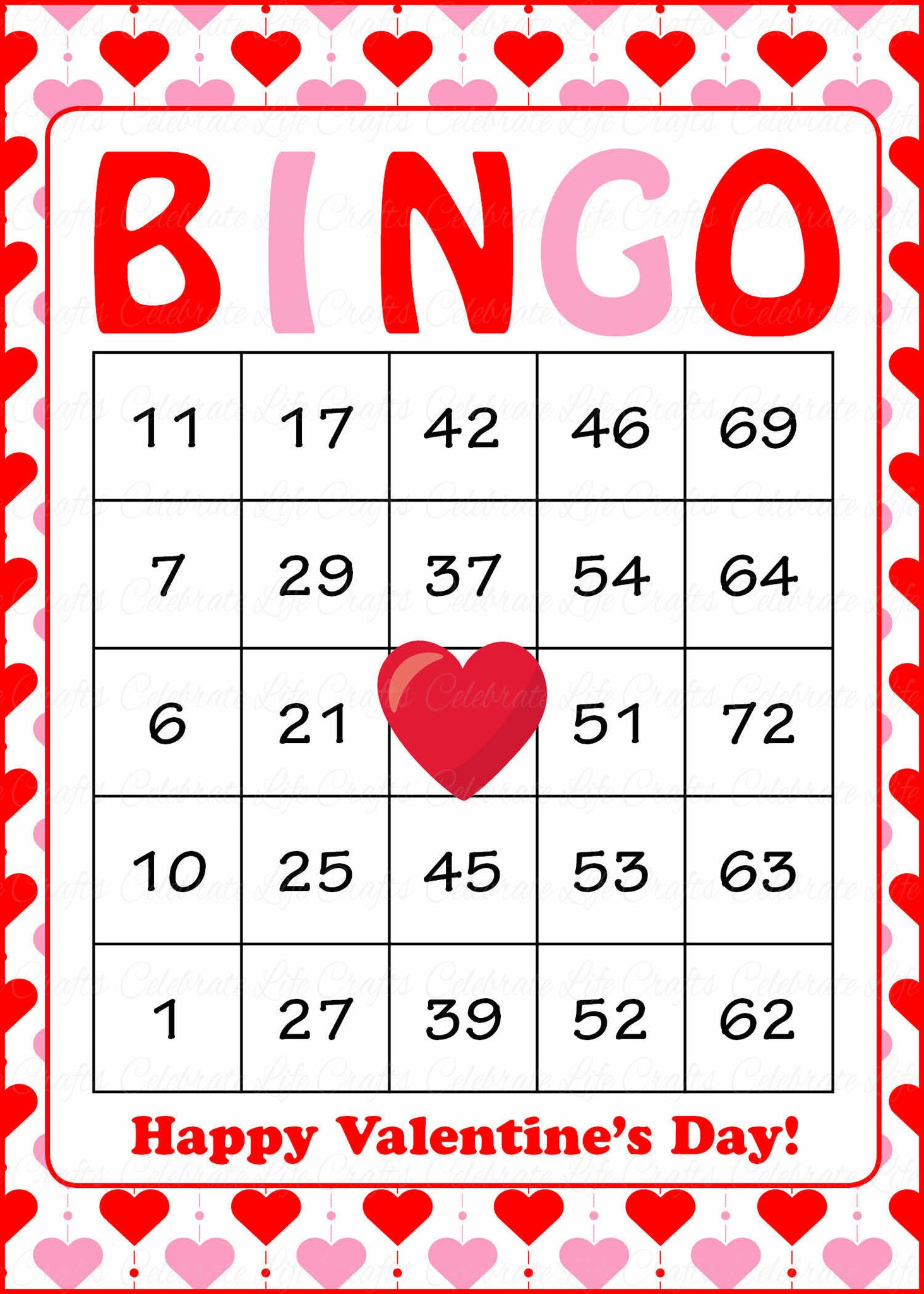 Valentine Bingo Game Download for Holiday Party Ideas ...