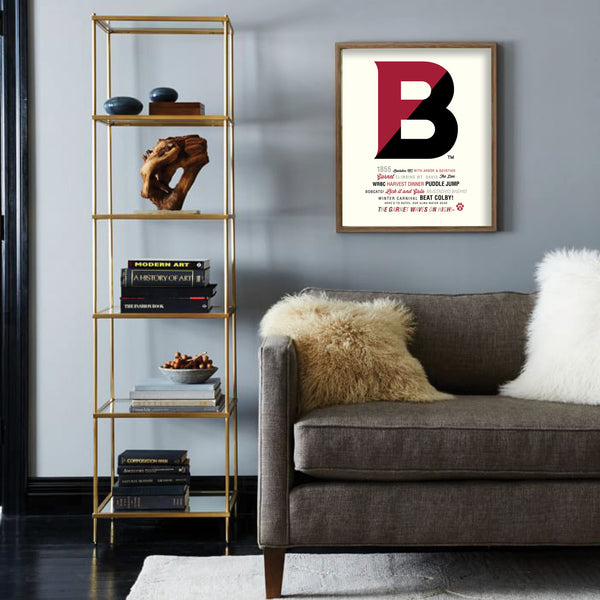 "Bates College ""Big Letter"" Print"