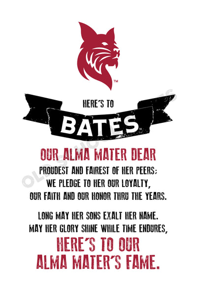 Bates College Fight Song Print