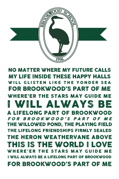 Brookwood School Song Print