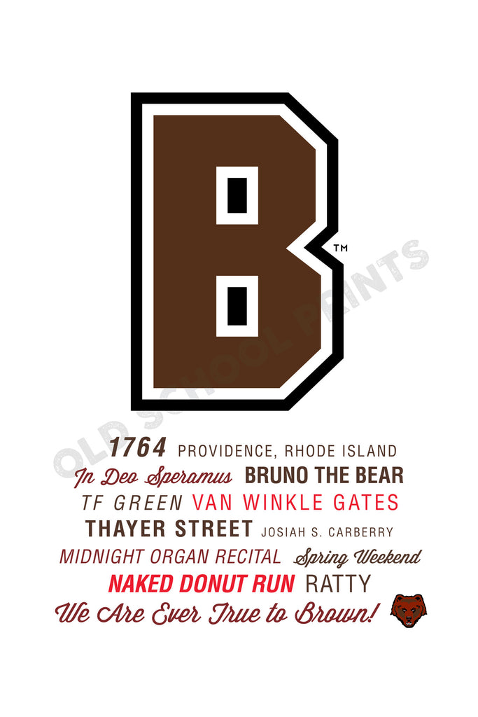 Brown University Traditions Print