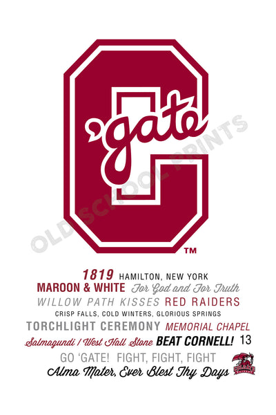 Colgate Big Letter Traditions Print