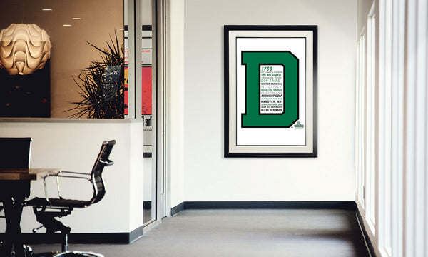 Dartmouth Big Letter Traditions Print