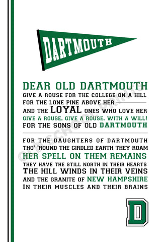 Dartmouth College Alma Mater Print