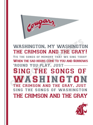Washington State Alma Mater Print
