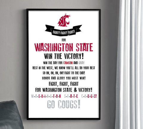 Washington State Fight Song Print