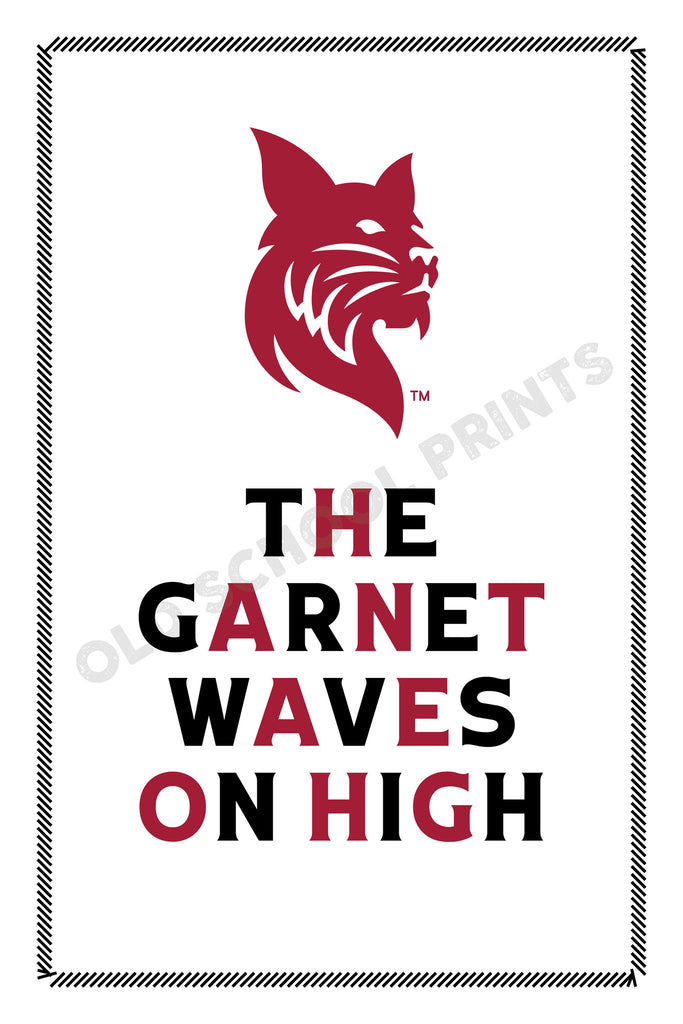 Bates Garnet Waves on High Print