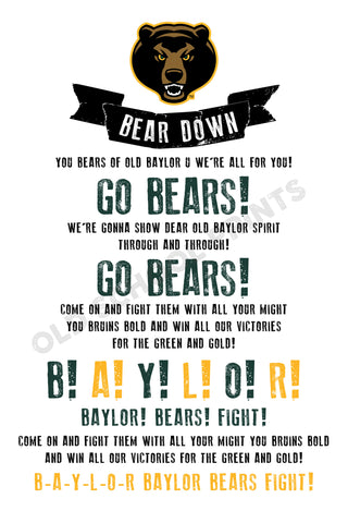 Baylor Fight Song Print
