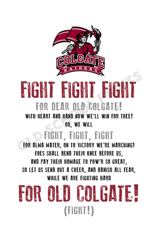 Colgate Fight Song Print