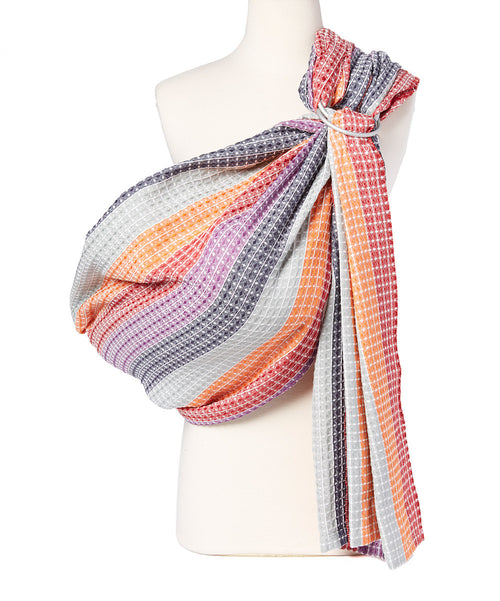 -Rainbow Honeycomb Ring Sling
