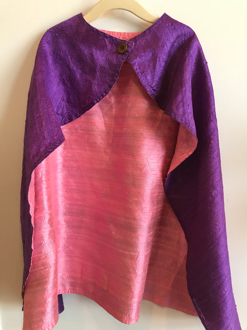 Silk Cape Purple/Pink