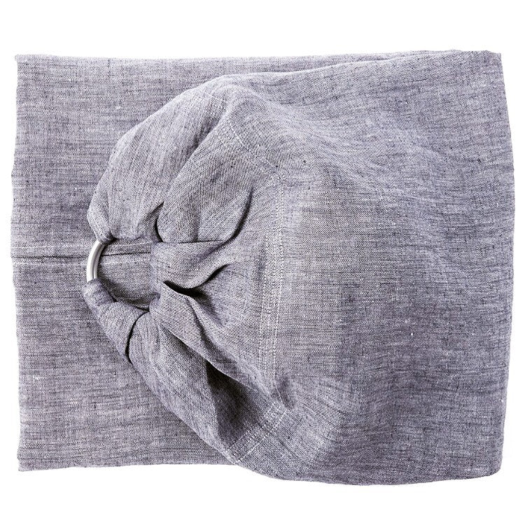 -Blackberry Linen Ring Sling