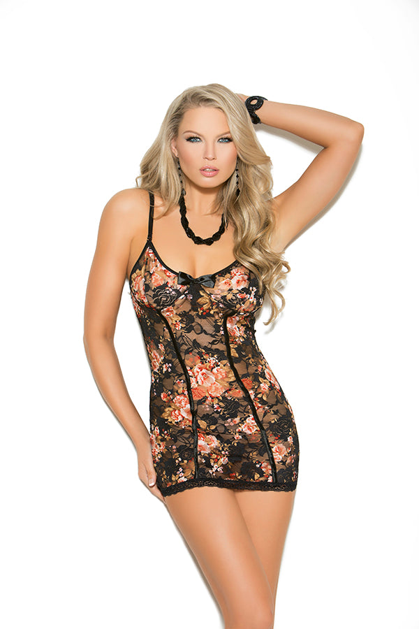 Lace babydoll with adjustable straps. Style #1973