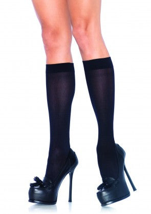 5572 Nylon Opaque Knee Highs
