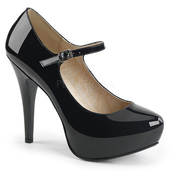 "5 1/4"" Heel, 1 1/4"" PF Mary Jane W/Concealed PT Pump"