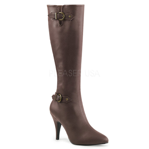 Heel Knee Boot w/ Buckles/Straps Dream-2030