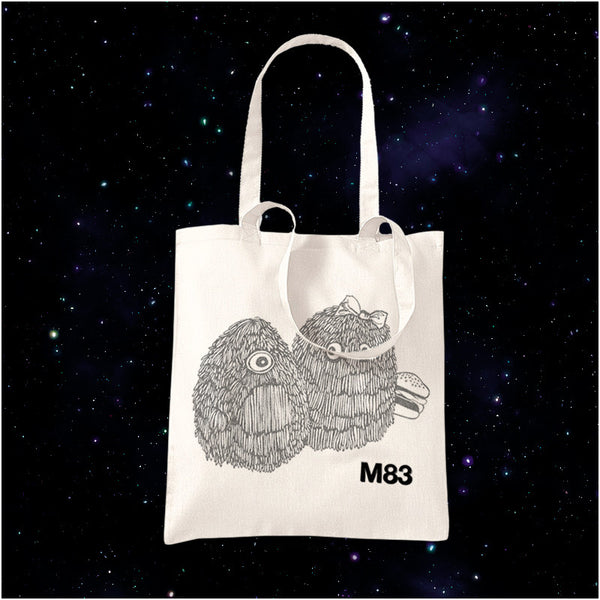 M83 FLUMP DRAWING NATURAL TOTE BAG