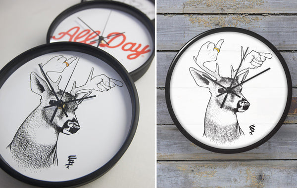 Time flies when your heart has wings. New Upper Playground x BLIK clocks.