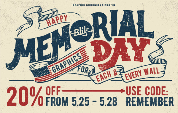 20% off the entire Memorial Day weekend.