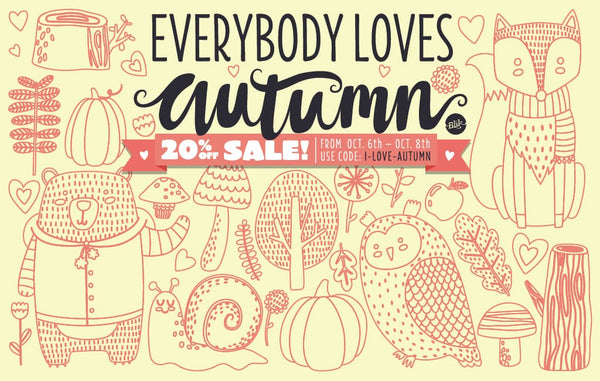 We love autumn sale! Take 20% off your order.