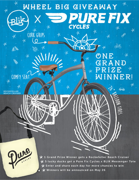 Want to win a beach cruiser? Enter our Wheel Big Giveaway!