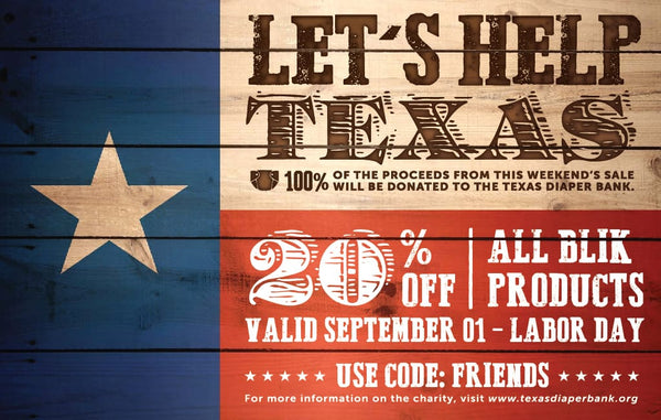 Labor Day Sale: 20% off for you is 100% for Texas