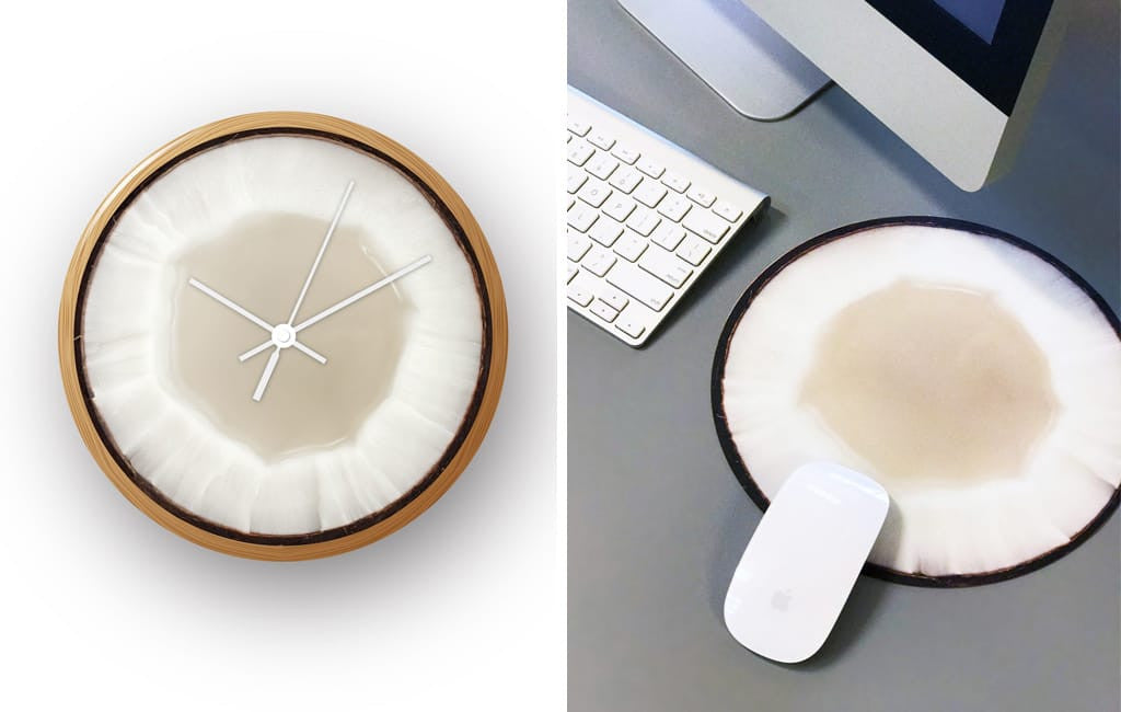 Juicy new BLIK Mousepad decals and Art Clocks with fresh produce