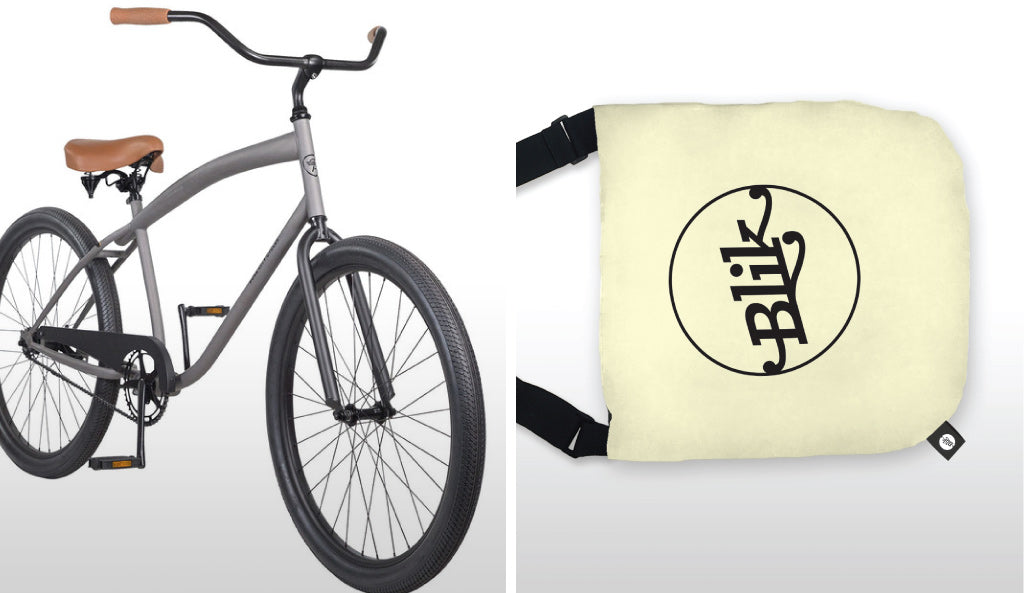 Pure Fix Cycles Rockefeller Beach Cruiser and Messenger Tote