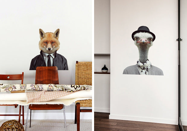 Which animal are you? New Zoo Portrait wall decals.
