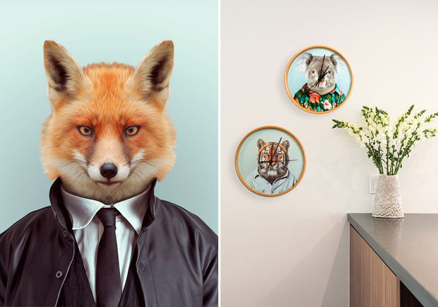 Its about time! New Blik Clocks with Zoo Portraits
