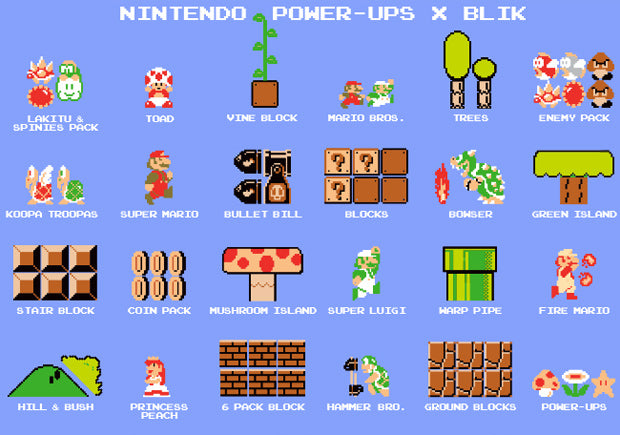 The next level in wall decals: Nintendo Power Ups!