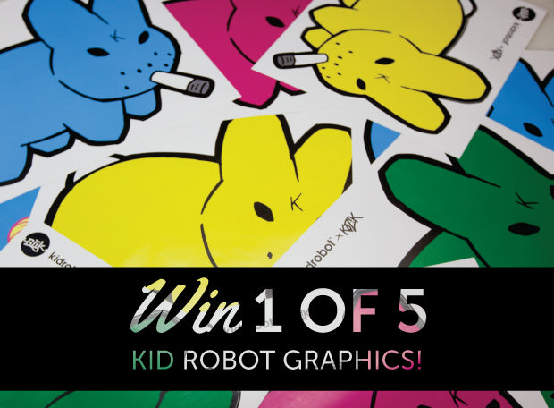 New Kidrobot X Blik wall graphics + Giveaway