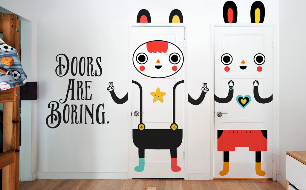 Doors are boring. Make yours fun! Door decals X Blik Surface Graphics