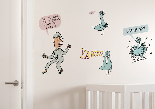 Mo Willems lets the Pigeon fly into Blik.