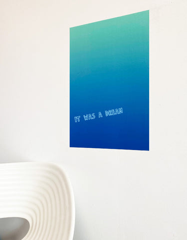Rectangle - Blue Gradient Dry Erase