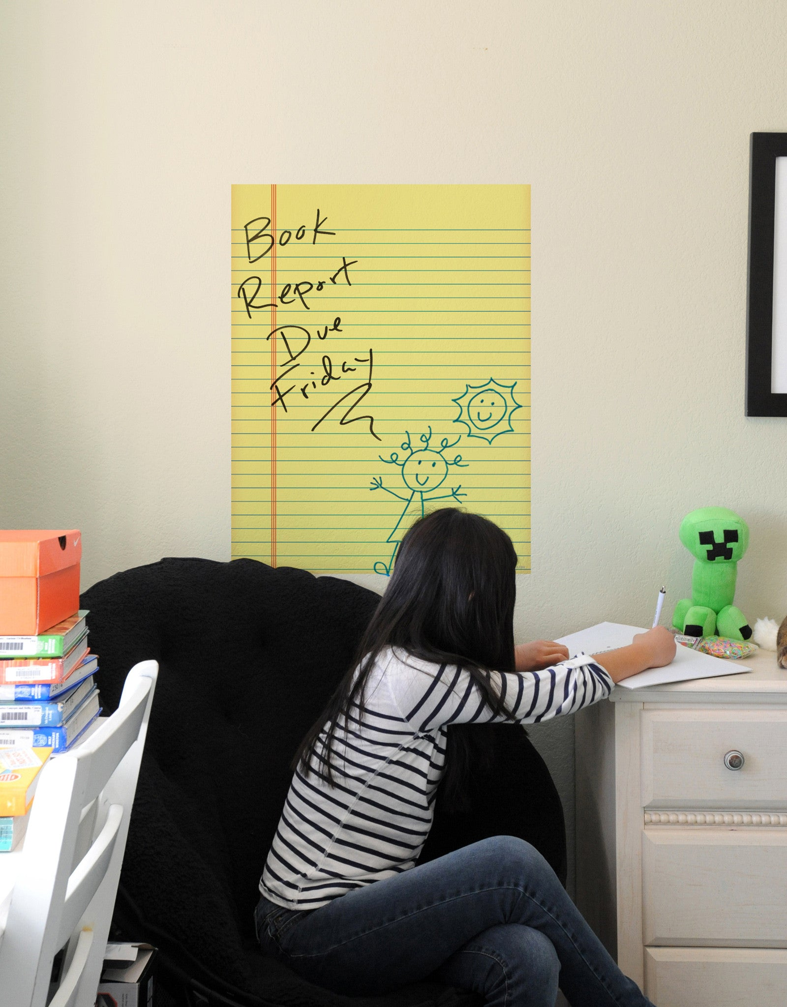 Yellow Pad Dry Erase Board Sticker | Notepad Dry Erase Decal – Blik