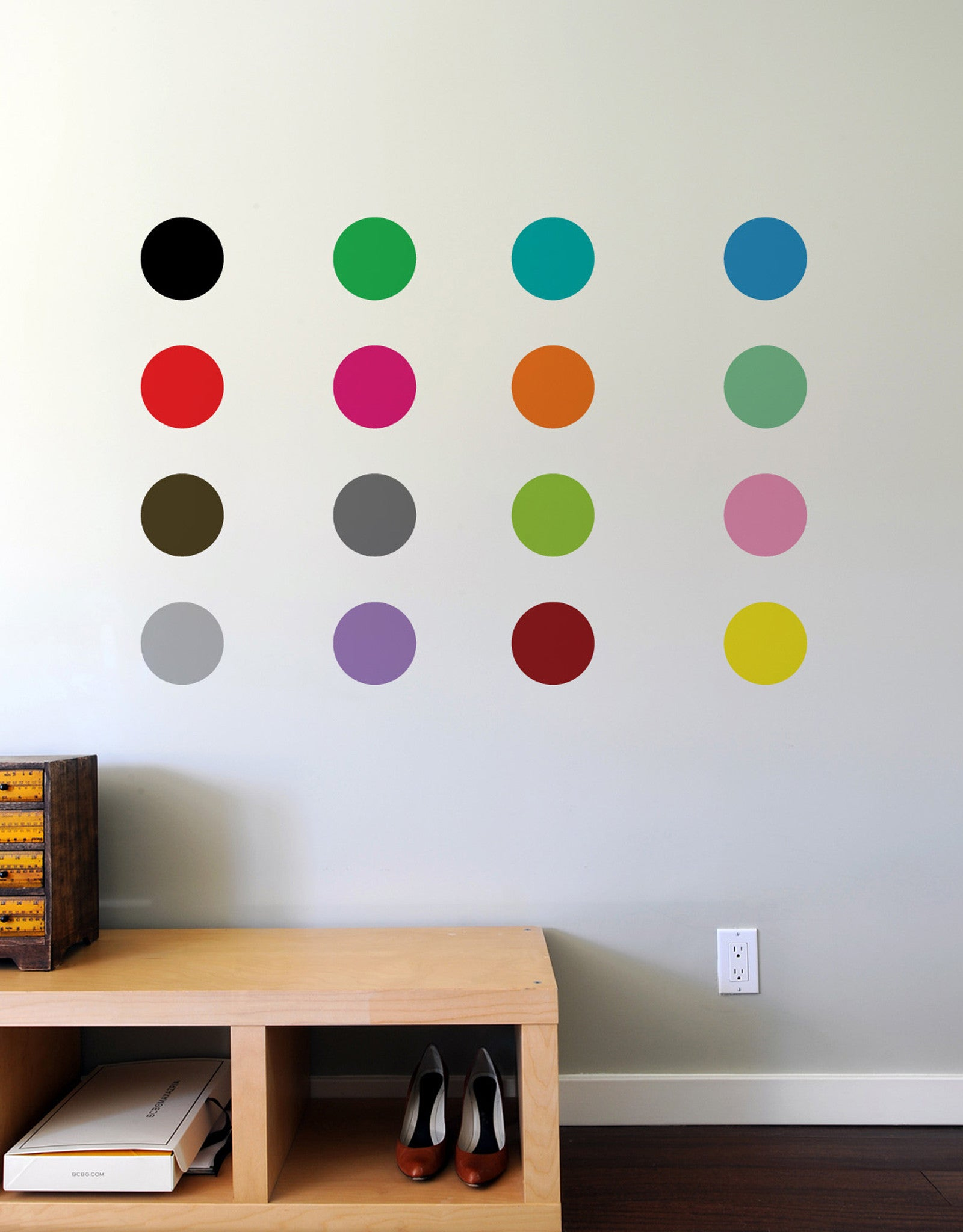 Colorful Polka Dot Wall Decals Blik Sweet 16