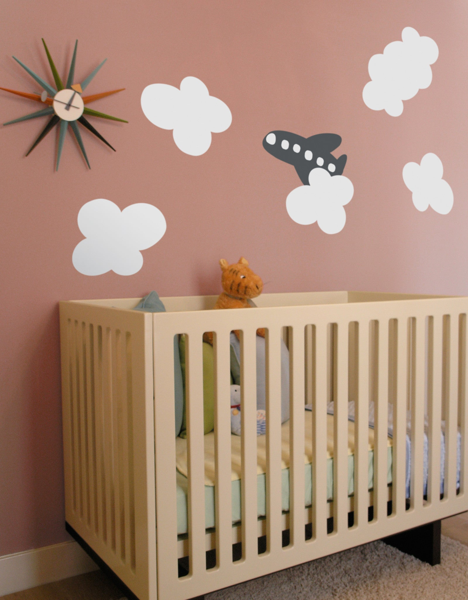 Cloud ~ Re-Stik & Cloud u0026 Airplane Wall Decal | Airplane Wall Decor | Blik