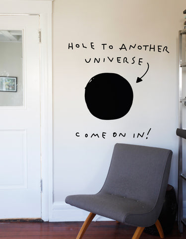 Hole to Another Universe