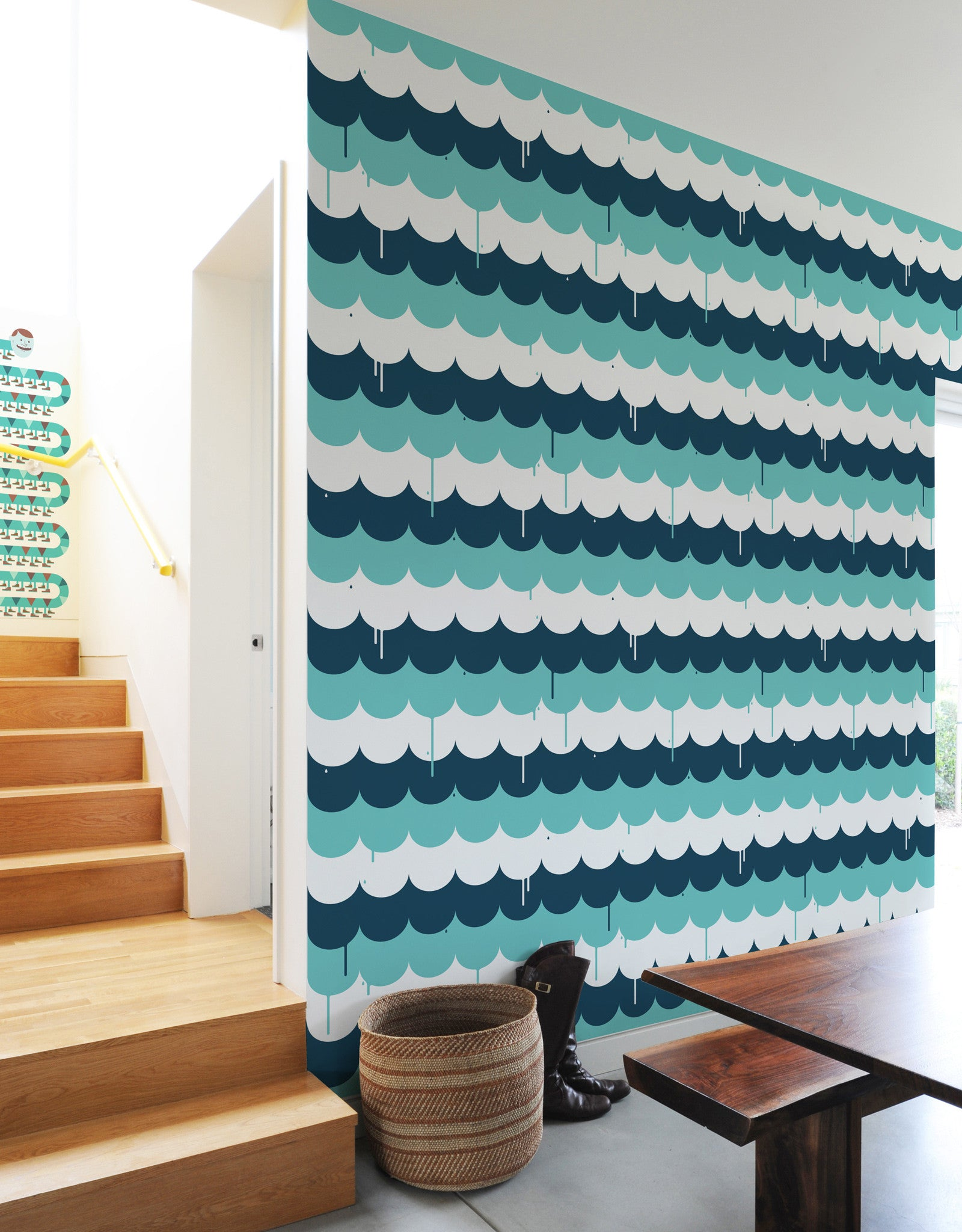 Scallop Tile Wall Decor | Patterned Fabric Wall Tiles | Blik