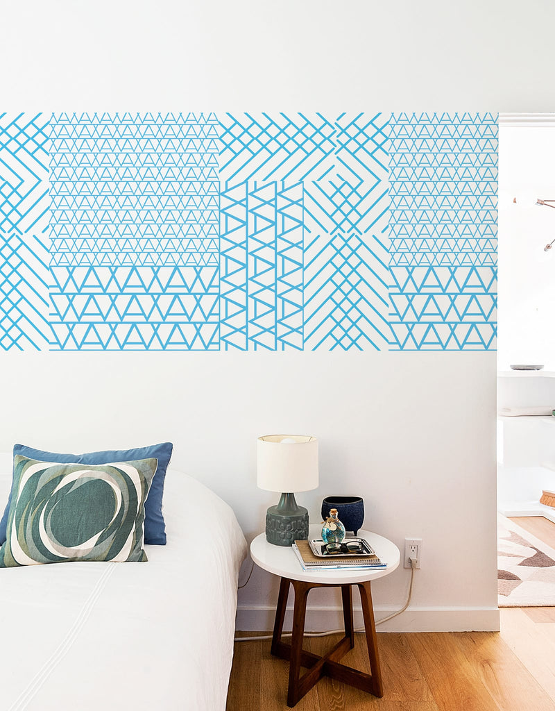 Blue Cross Mountain Pattern Wall Tiles