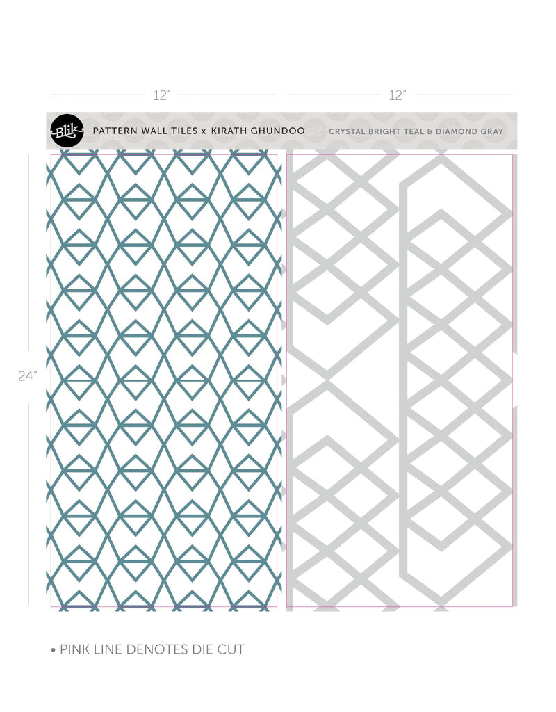 Crystal Diamond Pattern Wall Tiles