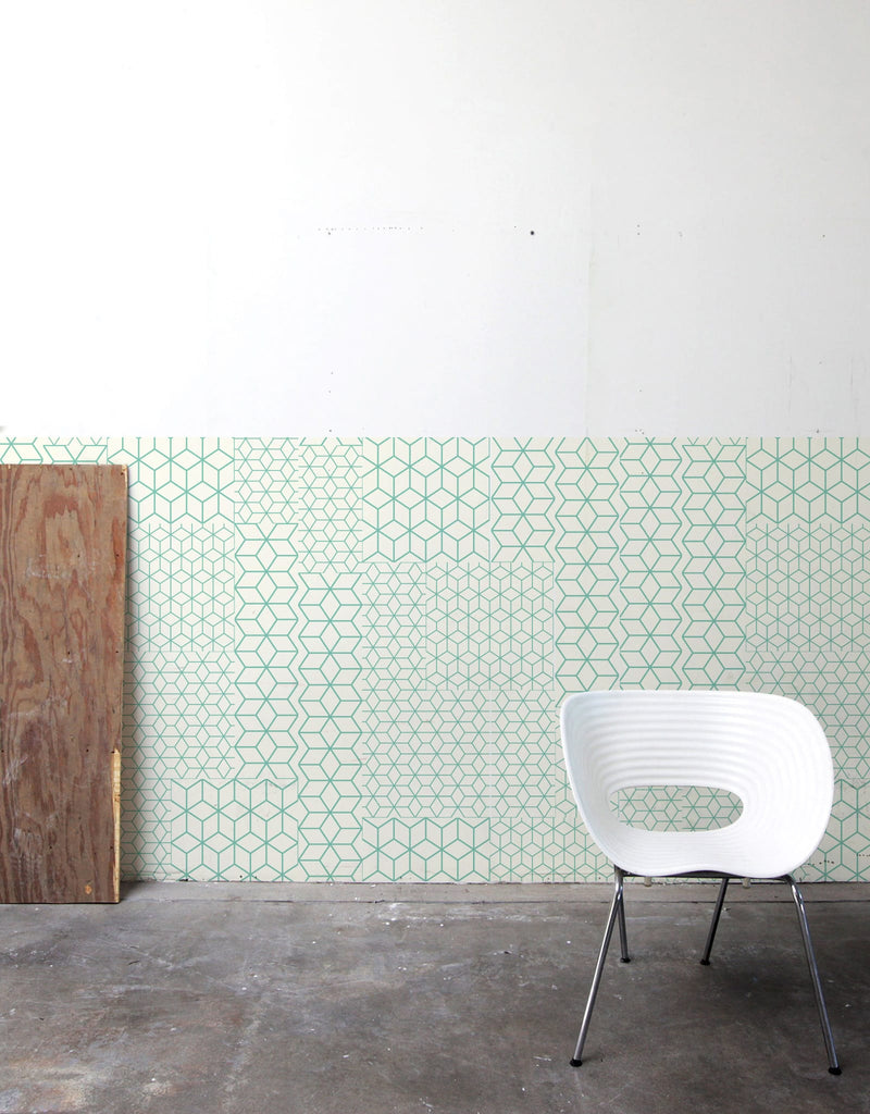Fold Green Pattern Wall Tiles