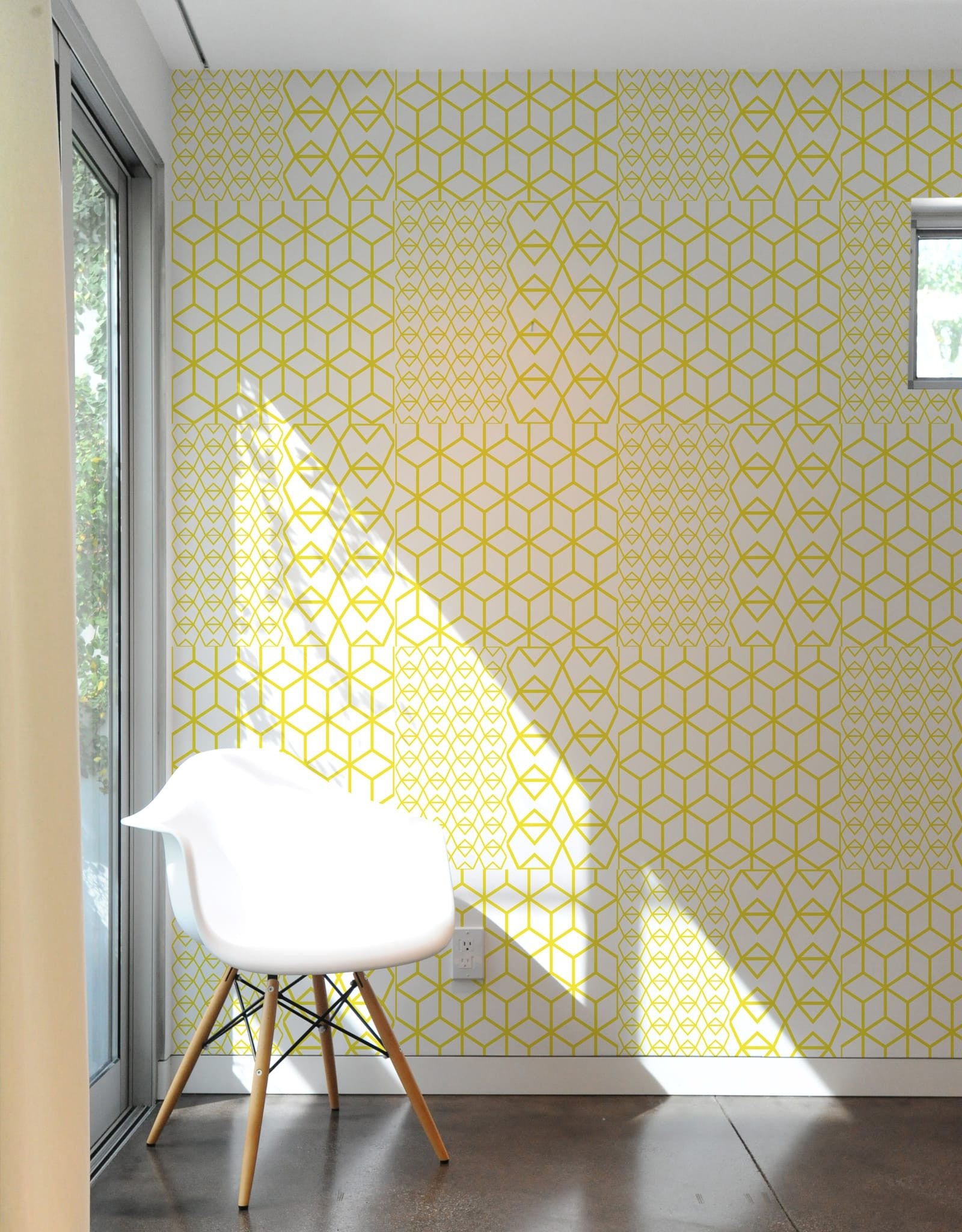 Fold Yellow Crystal Pattern Wall Tiles ...